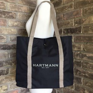 Hartmann Bag Handbag Tote Black Large Travel